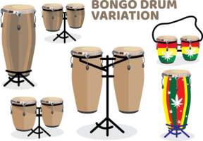 Bongo Trommel Variation Pack vektor