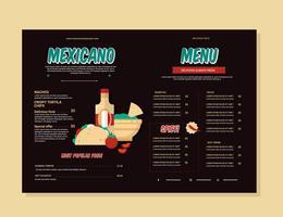 Mexikanischer Essen-Menü-Vektor