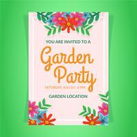 Inbjudanmall för trädgårdsfest vektor