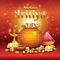 akshaya tritiya festival koncept vektor