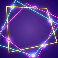 abstraktes modernes Neon mit lila Hintergrund vektor
