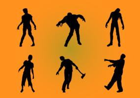 Zombie-Silhouetten festgelegt vektor