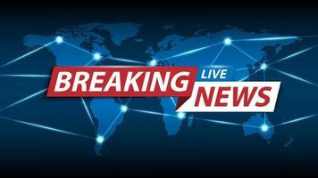 breaking news bakgrund, tv-kanal nyheter skärmsläckare, vektorillustration vektor