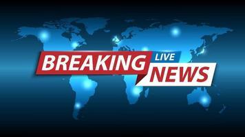 Aktuelle Nachrichten Hintergrund, TV-Kanal Nachrichten Bildschirmschoner, Vektor-Illustration vektor