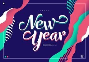 Frohes neues Jahr-Hintergrund-Vektor-Illustration