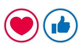 Icon Design mögen und lieben mit Kreislinie vektor