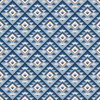 nahtloses geometrisches blaues quadratisches Muster mit Schatten vektor