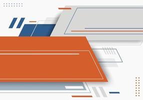 abstrakt blå, grå, orange färg geometrisk med linjer horisontella på vit bakgrund teknik futuristisk stil vektor