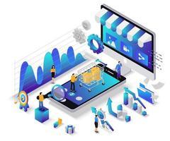 digital marknadsföringskonceptdesign vektor