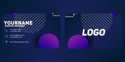 moderne geometrische Visitenkartenschablone mit purpurroter Farbe vektor