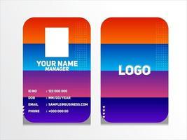 enkel abstrakt geometrisk id-kort design professionell identitetskort mall vektor för anställd och andra