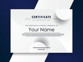 Anerkennungsurkunde template.trendy geometrisches Design. vektor