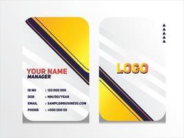 einfache abstrakte geometrische ID-Karte Design professionelle Ausweis Vorlage Vektor für Mitarbeiter und andere
