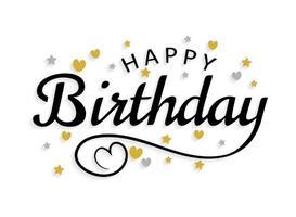 Alles Gute zum Geburtstag Schriftzug vektor