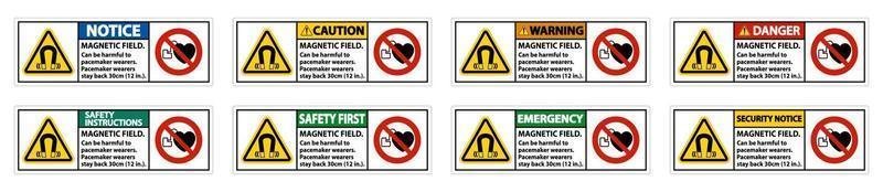 Magnetfeld kann für Schrittmacher-Träger schädlich sein. Schrittmacher-Träger. 30 cm zurückbleiben
