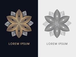 abstrakte Luxusblume des goldenen Lotus vektor