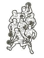 gälische Fußball Männer Spieler Aktion Gliederung vektor