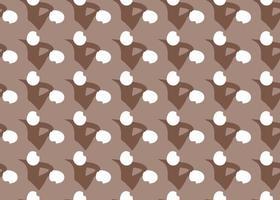 handritade, bruna, vita abstrakta former sömlösa mönster vektor