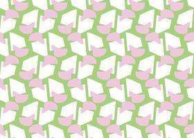handritad, rosa, grön, vit färg formar sömlösa mönster vektor