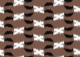 handritad, brun, svart, vit färg sömlösa mönster vektor