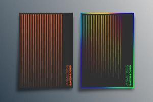 Minimales Liniendesign mit Farbverlauf für Hintergrund, Tapete, Flyer, Poster, Broschürenumschlag, Typografie oder andere Druckprodukte. Vektorillustration vektor