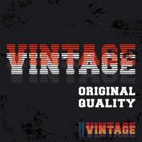 Vintage Line Design-Druck für T-Shirt-Stempel, T-Stück-Applikation, Modetypografie, Abzeichen, Etikettenkleidung, Jeans oder andere Druckprodukte. Vektorillustration vektor