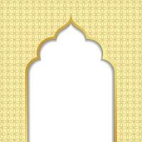 ramadan kareem eller eid al fitr, bakgrund med gyllene båge, med gyllene arabiska mönster, bakgrund för heliga månaden av muslimska samhället ramadan kareem, eps 10 innehåller transparens vektor