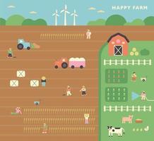 niedliches Hintergrundplakat der Herbstfarm. vektor