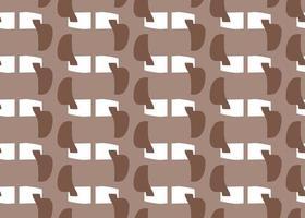 handritade, bruna, vita former sömlösa mönster vektor