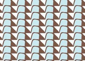 handritad, brun, blå, vit retro former sömlösa mönster vektor