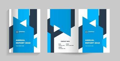 Vorlagenlayoutdesign mit Deckblatt