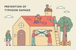 förebyggande av tyfonskadebanner