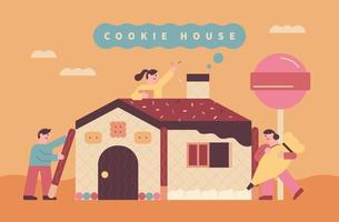 Bäckerei-Keks-Hausplakat vektor