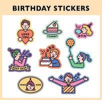 Aufkleber für Geburtstagsfeiern. vektor