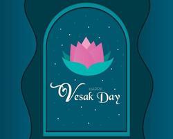 Happy Vesak Day Papercut Vektor
