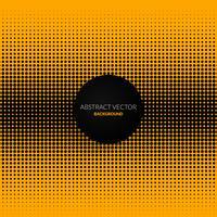 Gelber abstrakter Hintergrund mit Punkten vektor