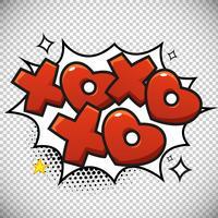 Xoxo-Blasendesign vektor