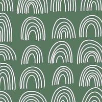 abstraktes Vektorregenbogenmuster. handgezeichnete Regenbogen im minimalistischen skandinavischen Stil. moderne Baby-, Kinderillustrationen. Regenbogen in verschiedenen Formen. bunte zeitgenössische Kunst vektor