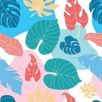 nahtloses Muster des tropischen Blattes vektor