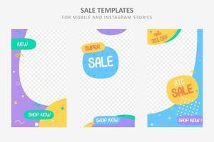 trendige Verkaufsvorlage für Social Media vektor