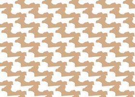 handgezeichnetes, braunes, weißes nahtloses Muster