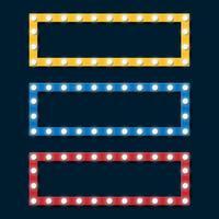 Retro Glühbirne Billboard Frame Set, Vektor-Illustration vektor