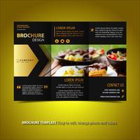 Schwarz und Gold-Broschüre