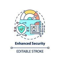 förbättrad ikon för säkerhetskoncept vektor