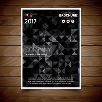 Schwarze Dreieck-Zusammenfassungs-Broschüren-Design-Schablone