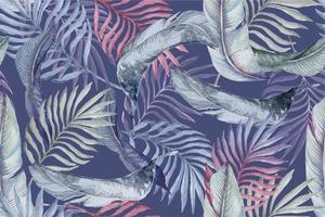 Muster der mit Aquarell gemalten Blätter 2 vektor