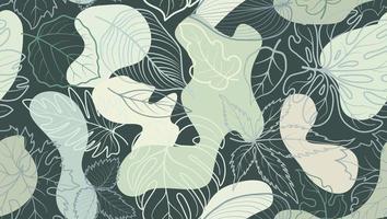 Blumenmuster mit Blättern. Blume nahtlosen Sommer festlichen Hintergrund. blühender Ziergarten mit ornamenta dotsl. vektor
