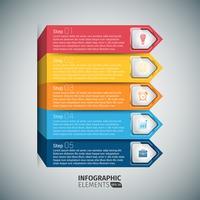 Pfeil Treppe Infographik Vorlage