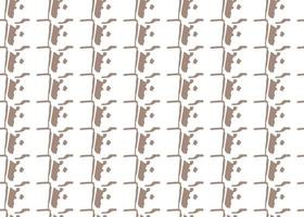 handritad, brun, vit färg sömlösa mönster vektor
