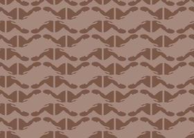 handritade, bruna färger sömlösa mönster vektor